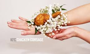 prom corsage kfc debuts chicken corsage because drumsticks belong everywhere