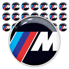 logo bmw 3d product 21pc bmw m power performance 25mm 3d domed sticker decal