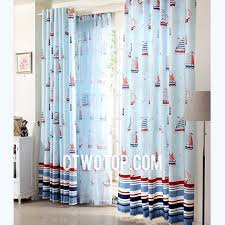 Sailboat Shower Curtains Baby Blue Nautical Sailboat Funky Fancy Warm Striped Modern Curtains