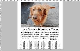 how to make a lost dog poster printaholic com