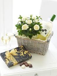 Wine Basket Gifts Luxury White Wine Gift Basket