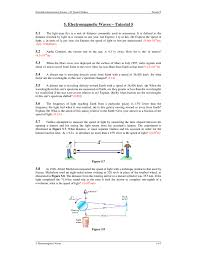 What Is The Speed Of Light 5 Electromagnetic Waves U2013 Tutorial 5