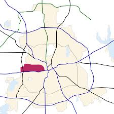 Dallas Map by West Dallas Wikipedia