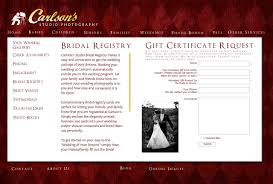 bridal registry website carlson s studio photography weddings bridal registry