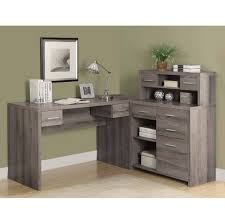 desk with hutch for sale wooden l shaped office desk furniture ash gray l shaped office