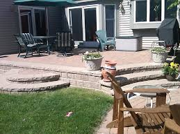 Patio Paver by Paver Patios With Lighting Raised Patio Seat Wall Landscape