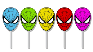 learn colors with spiderman cake pop funny videos for children