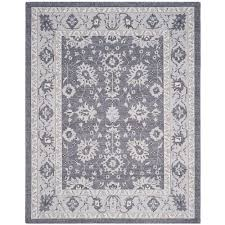 Beige And Gray Area Rugs Safavieh Carmel Dark Gray Beige 9 Ft X 12 Ft Area Rug Car277d 9