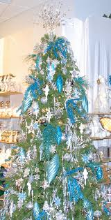 White Christmas Tree With Blue Decorations Amazon Com 9 U0027 Custom Christmas Tree Decorating Kit Blue Shimmer