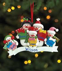 personalized snowman ornaments the lakeside collection