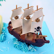 sailboat cake topper plastic pirate ship cake topper