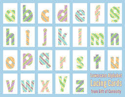 alphabet lacing cards 101 ways to teach the alphabet gift of