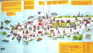 New York City Map Popular 201 List Tourist Map Of New York