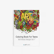 coloring book teens anti stress designs vol 1 art therapy