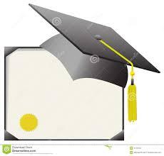 graduation diploma mortarboard graduation cap diploma certificate stock photo