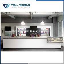 Reception Desk With Display Commercial Modern Restaurant Reception Desk Combined With Food