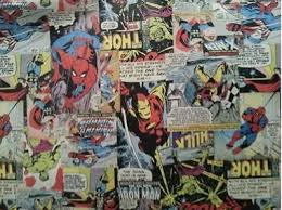 marvel wrapping paper decopatch collection on ebay