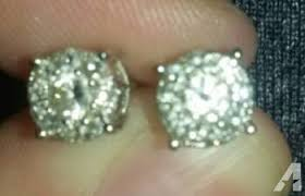 diamond stud earrings sale jewelers white gold diamond stud earrings 1 3 carat for sale