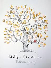 fingerprint tree wedding guest book alternative medium elm tree