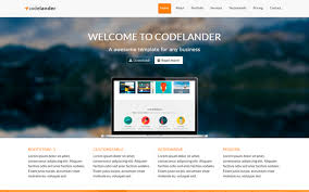 codelander one page template landing pages wrapbootstrap