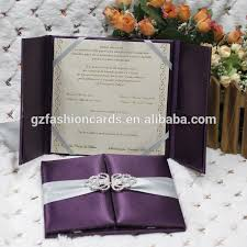 royal wedding cards blue color box type decorating silk material diy wedding