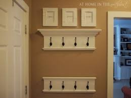 wall coat rack with shelf foter