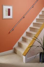 chrome banister rails stairs staircase handrail banister rail support kit 3 6m stainless