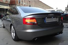 painted process trunk spoiler for audi a6 c6 abt saloon 2004 2008