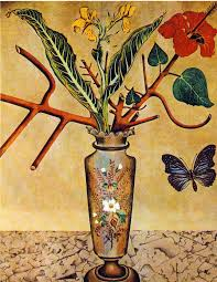 flowers and butterfly 1922 joan miro wikiart org