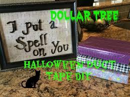 halloween tape dollar tree halloween duct tape diy halloween picture frame