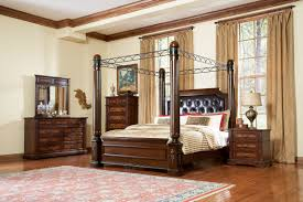 bedroom bedroom design idea with brown wooden canopy bed designed