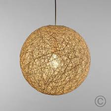 Sphere Ceiling Light Modern Medium White Lattice Wicker Rattan Globe Style Ceiling