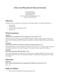 sample resume receptionist receptionist cover letter sample resume