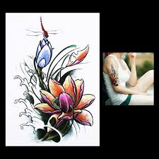 lotus flower tattoo on men dragonfly flower tattoos reviews online shopping dragonfly