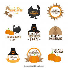 collection of vintage style thanksgiving badges vector free