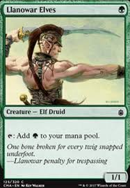 llanowar elves cmt mtg card