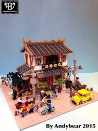 moc chinese dim sum restaurant lego town eurobricks forums