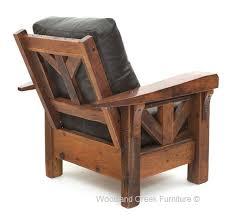 lodge club chair rustic furniture cabin lounge chair