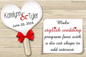 how to make your own wedding programs 5 simple steps to make a wedding program fan on your own