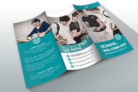 tri fold school brochure template indesign brochure template school brochure templates creative