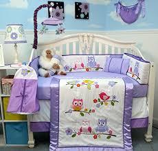 Soho Crib Bedding Set Soho Lavender Owls Baby Crib Nursery Bedding Set 14 Pcs Soho