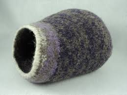 Cat Bed Pattern Pdf Kitty Pod Cat Cave Felted Wool Knitting Pattern