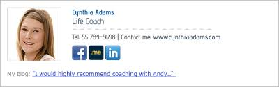 get a free life coaches email signature marketing for life