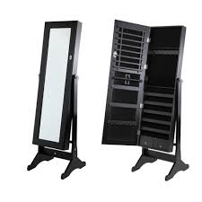 Black Armoire Homegear Mirrored Jewelry Cabinet With Stand Armoire Organizer