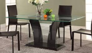 rectangle glass kitchen table glass top dining table set 4 chairs rectangular glass dining table