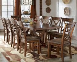 rustic dining room table polished rectangular wooden table sets