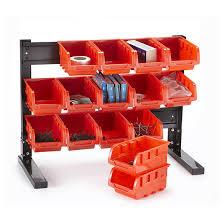 Storage Bin Shelves by Table Top 15 Bin Storage Rack 622624 Garage U0026 Tool Accessories