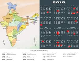 year 2018 calendar holidays in india in 2018