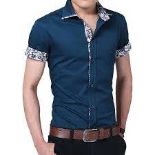 men branded shirt summer mens dress shirts short sleeve casual