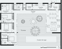 plan 4 chambres plain pied plan maison plain pied 4 chambres avec suite parentale élégant